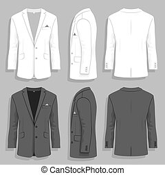 Mens suit - Vector illustration. men's suit design template