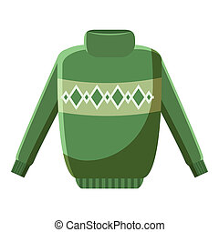 Mens sweater icon, cartoon style