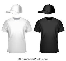Mens T-shirt and Baseball Cap