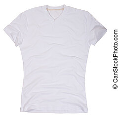 Men's t-shirt isolated on a white