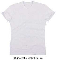 Men's t-shirt isolated on a white background. Clipping paths...
