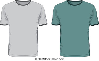 Men's t shirts design template. Vector illustration.
