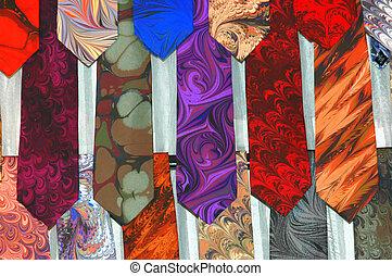 Men\\\'s Ties - Men\\\'s colorful ties on display.
