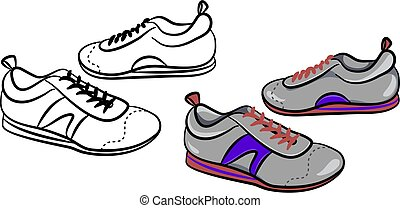 mens trainers - a pair of generic style male pumps