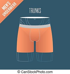 Men's underwear vector illustration
