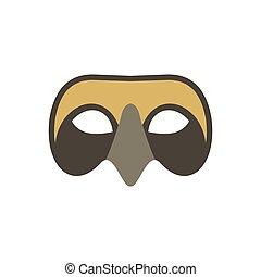 Mens Venetian mask icon, flat style