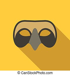 Mens Venetian mask icon, flat style