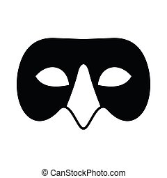 Mens Venetian mask icon, simple style