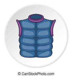 Mens vest sleeveless icon, cartoon style