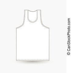 Mens Vest Vector Design Illustration