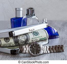 men's watches, toilet water