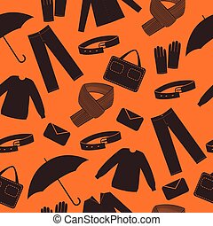 Mens wear and accessories shapes background.