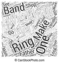 mens wedding bands Word Cloud Concept