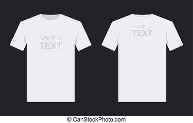 Men`s white t-shirt design template