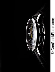 wrist watch - men's wrist watch on black