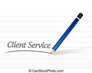 mensagem, cliente, desenho, serviço, ilustração