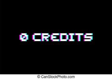 mensagem, créditos, 0, arcada