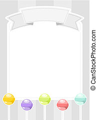 mensagem, lollipops, tábua
