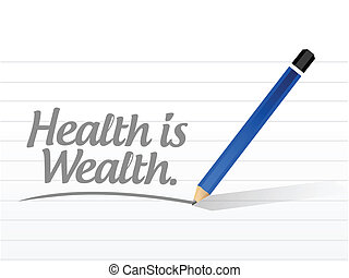 mensagem, saúde, riqueza