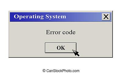 mensagem, sistema operacional, ícone