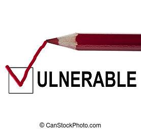 mensagem, vulnerável