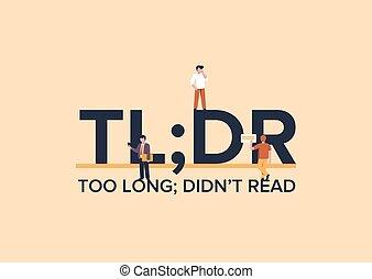 mensaje, didnt, summarized, tldr, jerga, read., largo, text., mercadotecnia, empresa / negocio