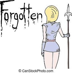mensaje, diseño, olvidado