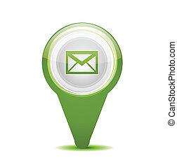 mensaje, email, icono