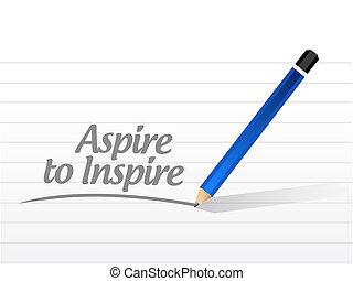 mensaje, inspirar, aspirar