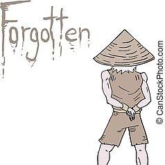mensaje, olvidado
