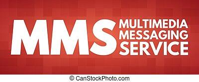 mensajería, mms, siglas, servicio, multimedia, -