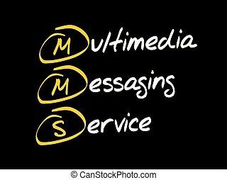 mensajería, multimedia, -, mms, servicio
