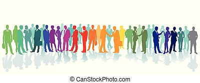 Menschen Farben.eps - Colorful crowd on a place