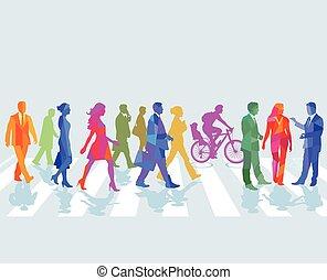 Menschen-Farben.eps - Street with people
