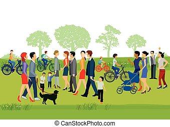Menschen gehen Spazieren [Konvertiert].eps