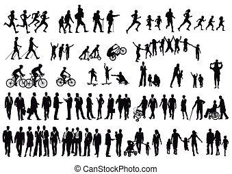 Menschen-Gruppen.eps - people and crowd