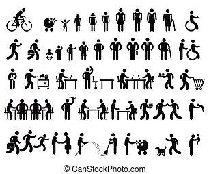 Menschen Pictogram.eps - people Pictogram