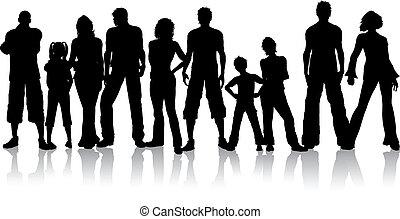menschengruppe