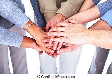 menschengruppe, hands.