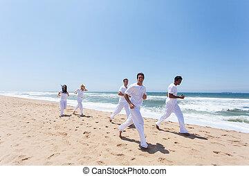 menschengruppe, jogging