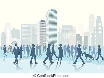 Menschenmenge Stadt