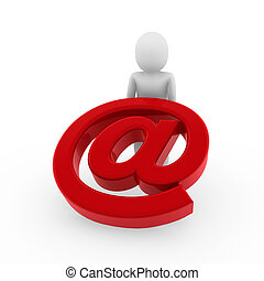 menschliche , e-mail, 3d
