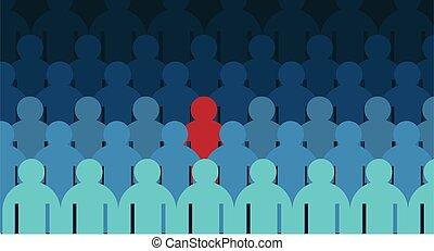 menschliche figur, virus, krankheit, infected, crowd