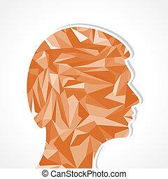 menschliche , head-abstract, abbildung