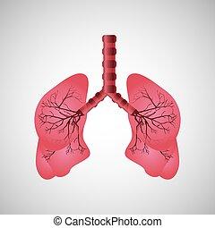 menschliche lunge, ikone