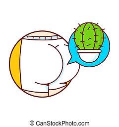 menschliche , schlüpfer, kaktus, esel