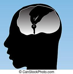 menschliche , schlüssel, profil