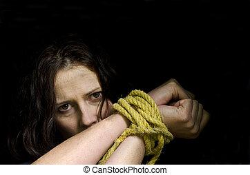 menschliche , trafficking, -, begriff, foto
