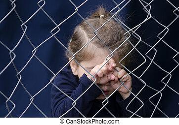 menschliche , trafficking, von, kinder, -, begriff, foto