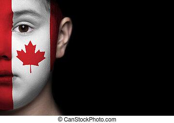 menschliches gesicht, kanada kennzeichen